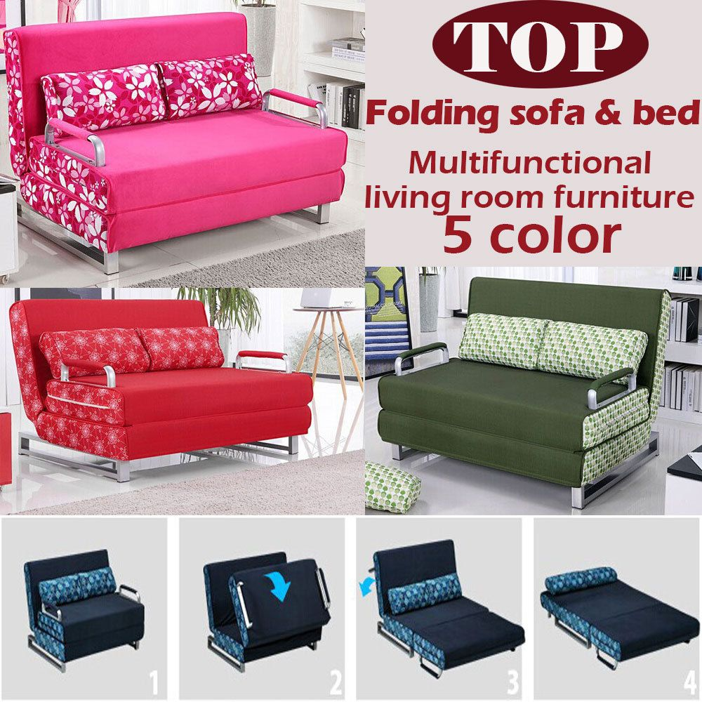 100 Cotton Sofa Bed High Resilience Foam Sponge Sofa Folding Sofa