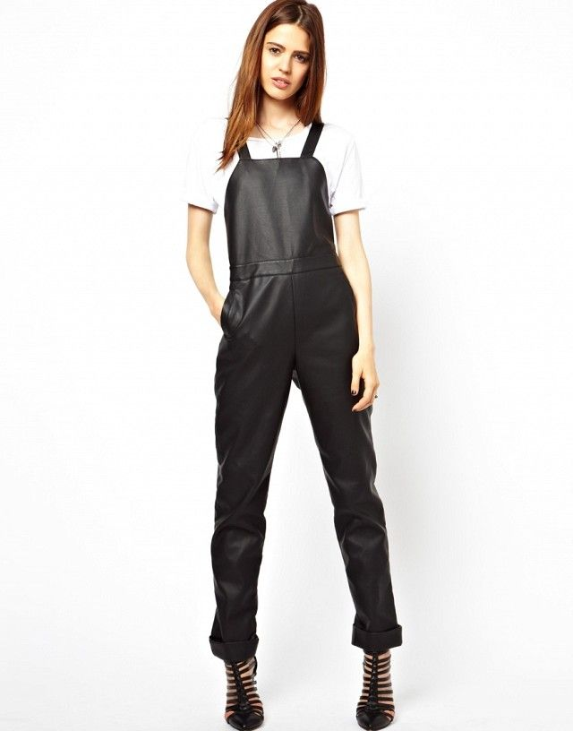 ASOS Overalls in Leather Look