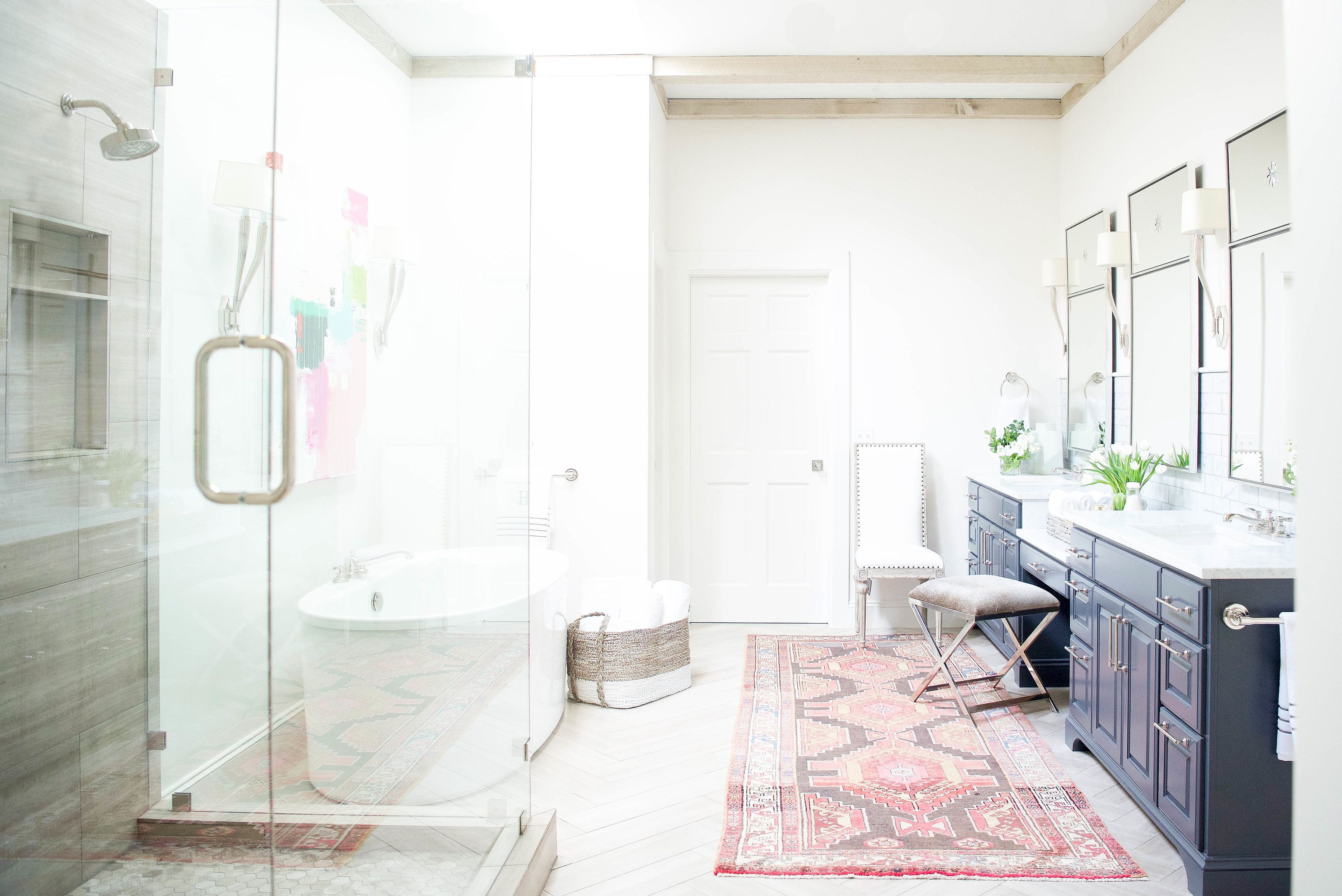 A Spacious Master Bath Redo With Pops Of Color Bath Future House - Redo master bathroom