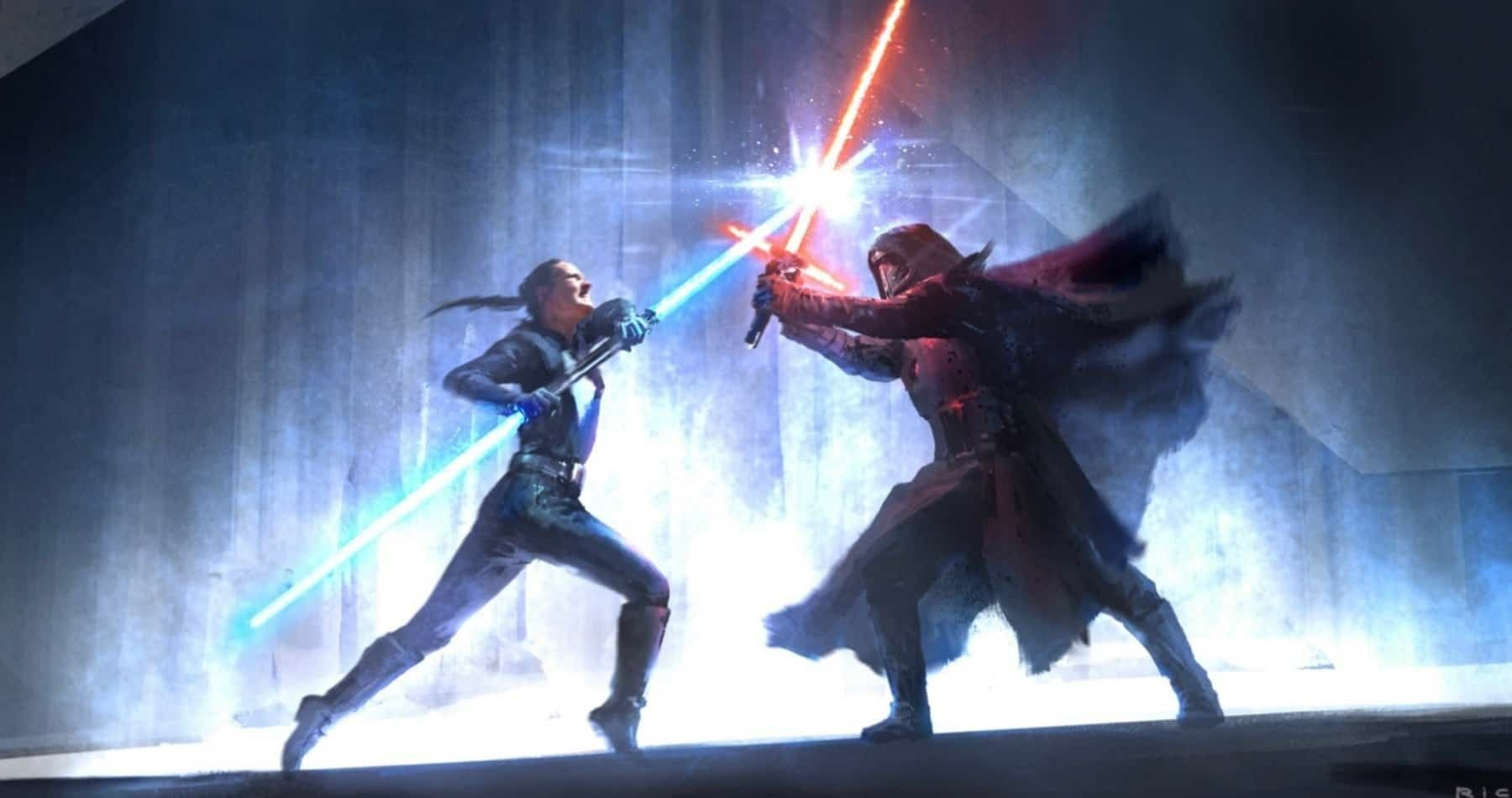 Rey Vs Kylo Ren On Mortis Star Wars Concept Art Star Wars Episodes Star Wars Movie