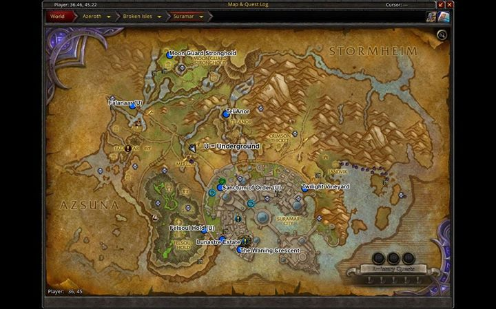 Legion Suramar Map Environment Map World Of Warcraft