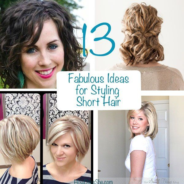 Styling Short Hair 13 Fabulous Ideas For Styling Short Hair  Short Hair Facial And