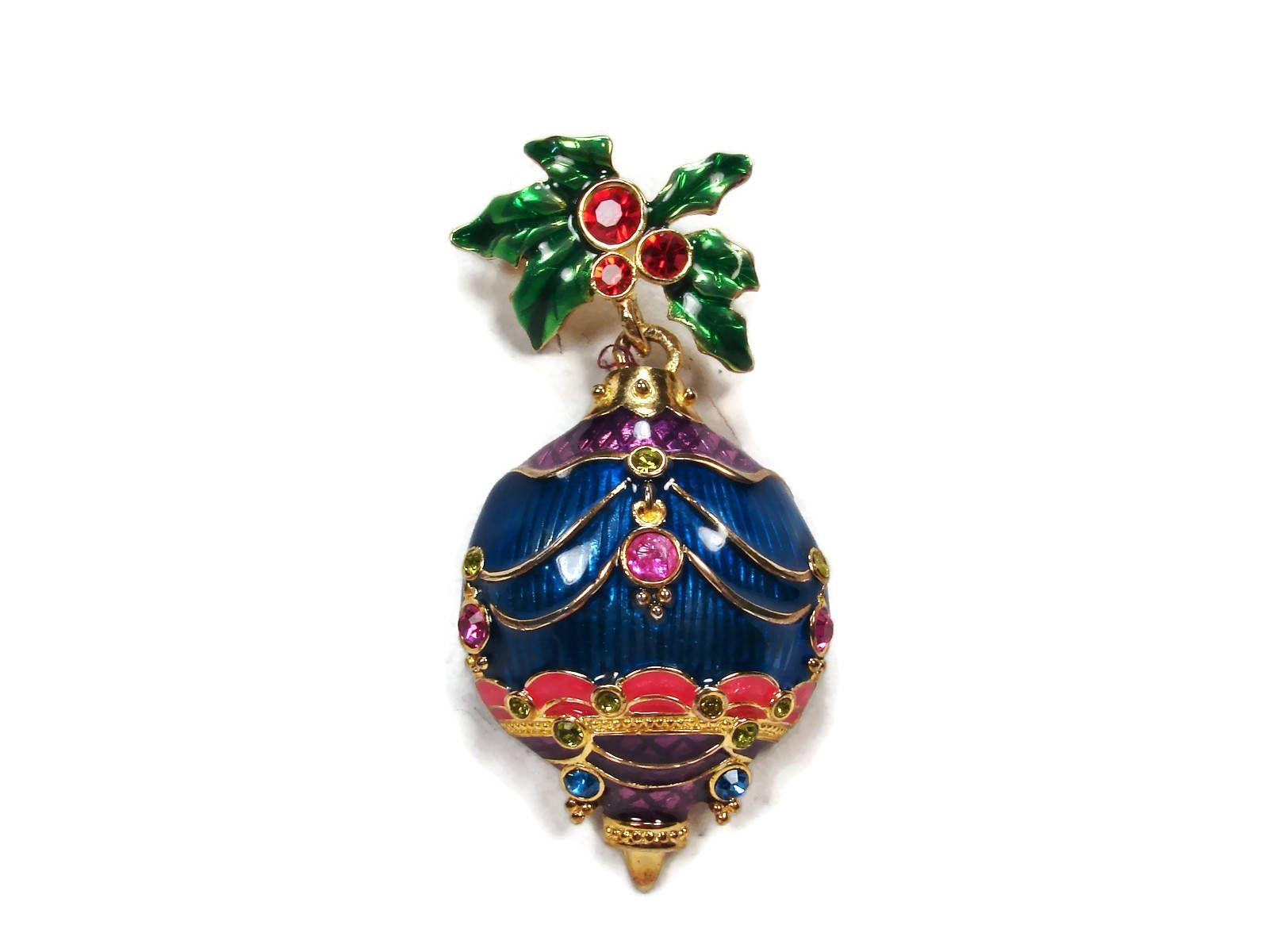 Christopher Radko Christmas Ornament Brooch tagegemz