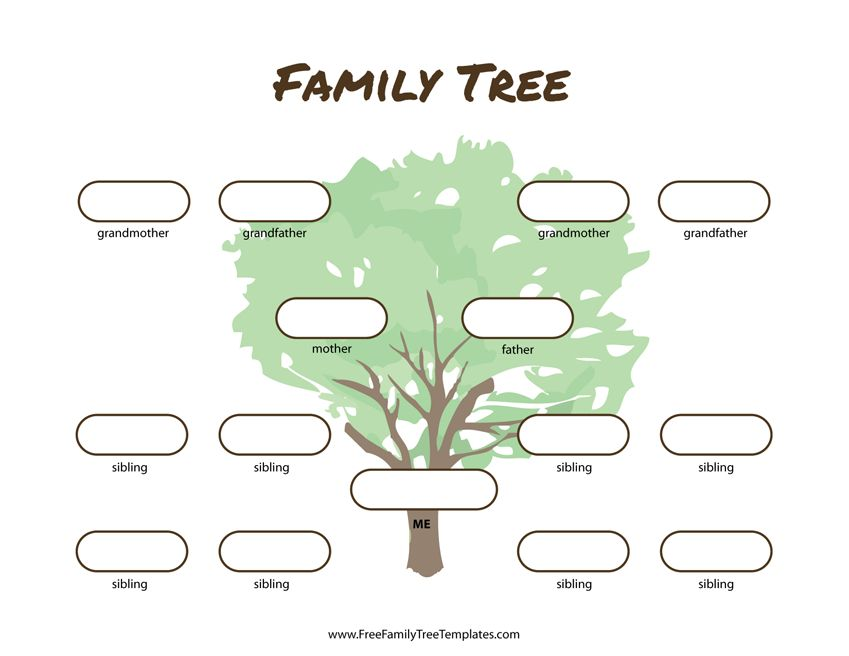 3 Generations Pedigree Chart
