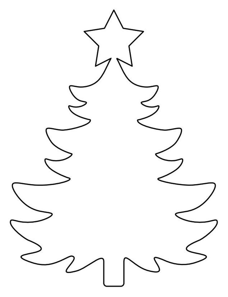 Christmas Tree Templates In All Shapes And Sizes Christmas Tree Template Christmas Tree Coloring Page Christmas Tree Pattern