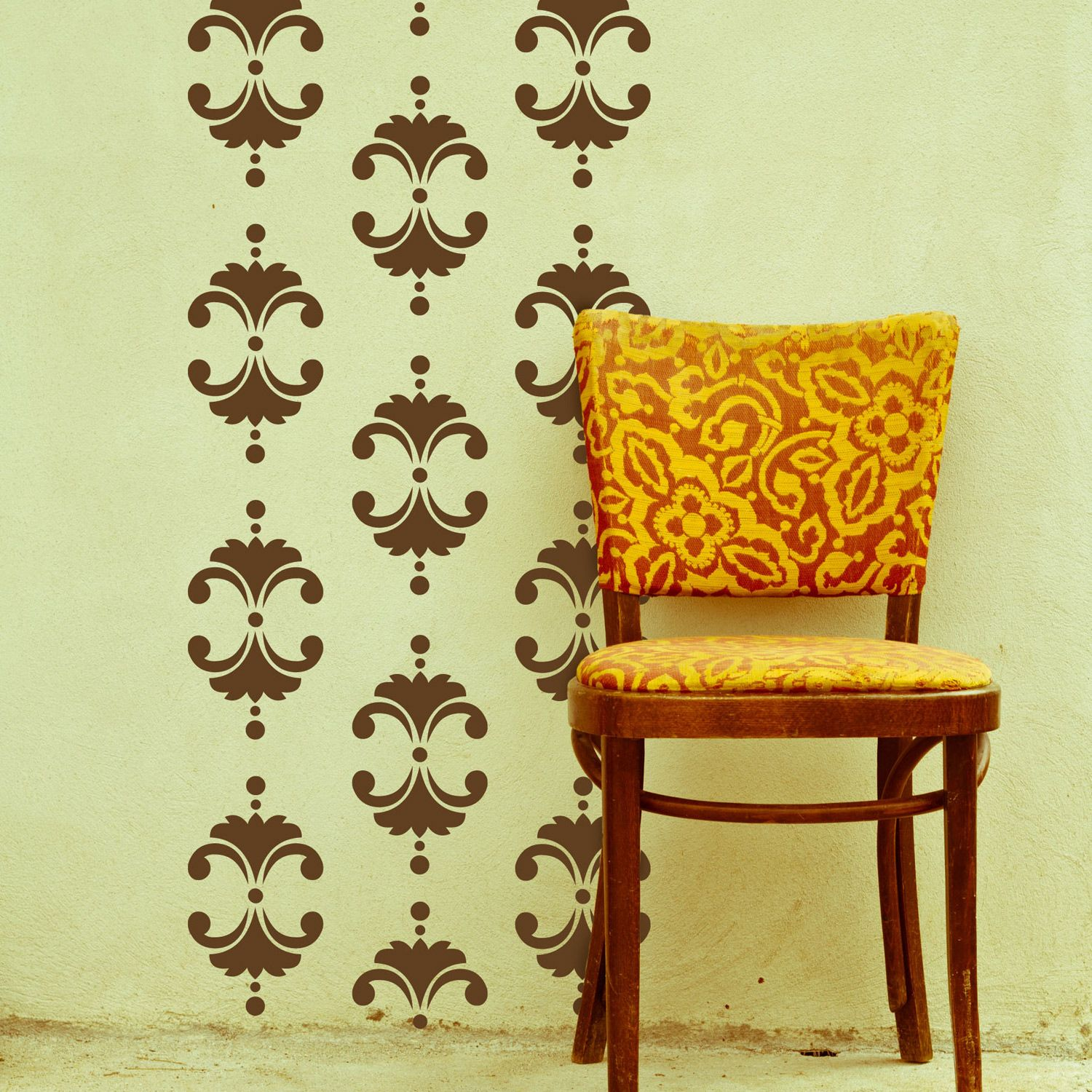 Vintage Floral Damask Wall Decal @Layla Grayce | Nifty Ideas ...