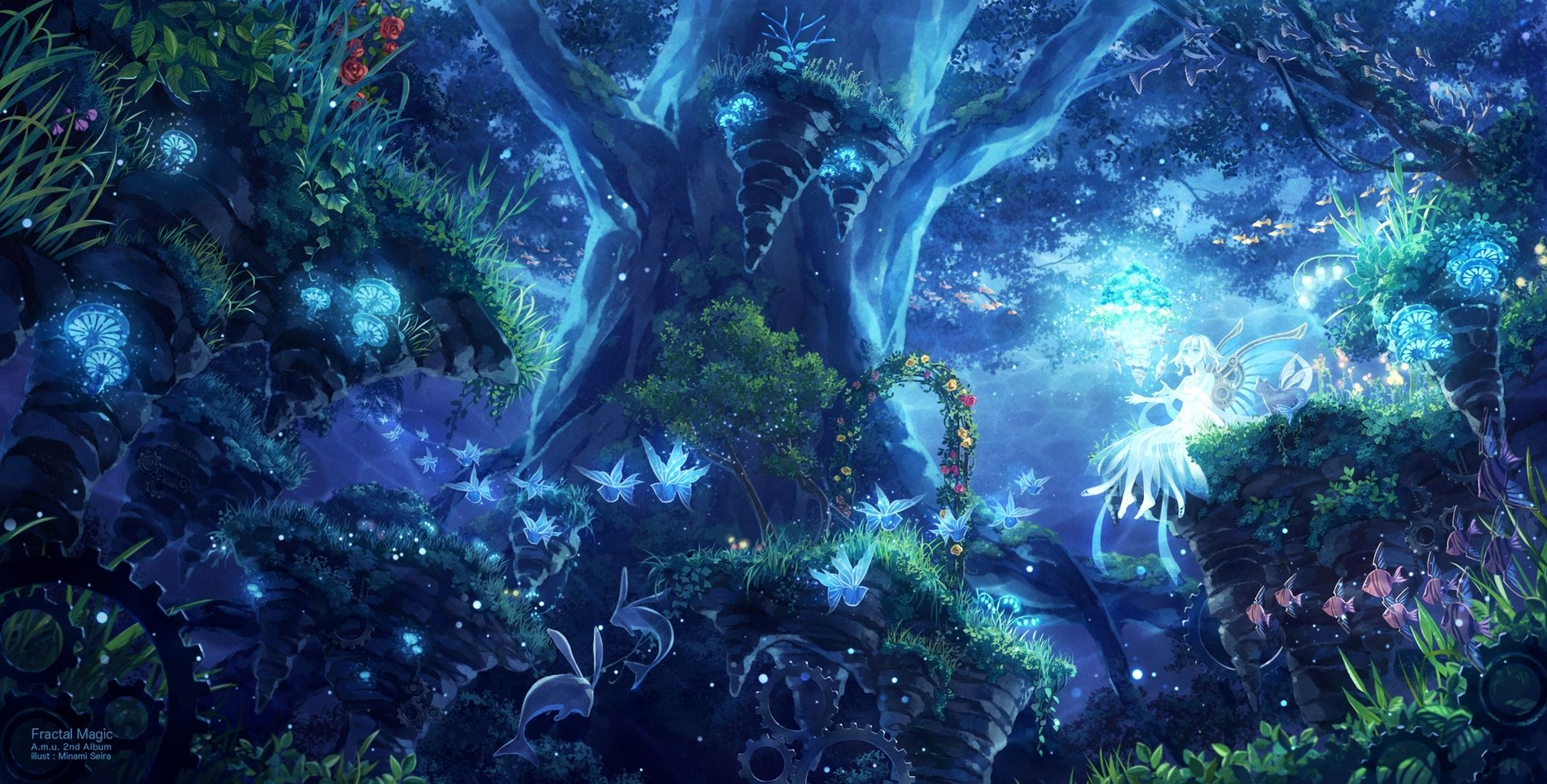 Anime Scenery Wallpaper Anime Scenery Fantasy Forest Fantasy Landscape