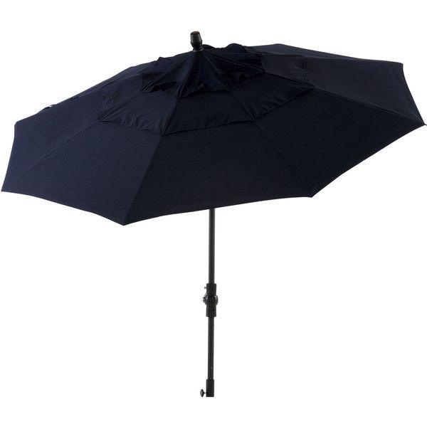 Ethan Allen Tuscan Sun Round Market Umbrella found on Polyvore