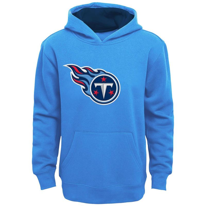 9e72f365 Tennessee Titans Youth Fan Gear Prime Pullover Hoodie - Light Blue ...
