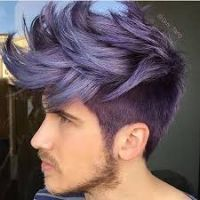 Image Result For Mens Purple Highlights Metallic Hair Spiked Hair Mens Hair Colour