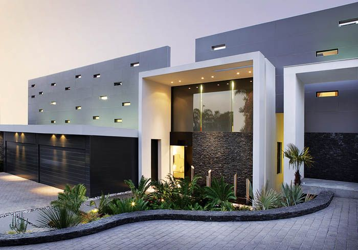 Planta arquitectonica jardin minimalista buscar con for Fachadas de oficinas modernas