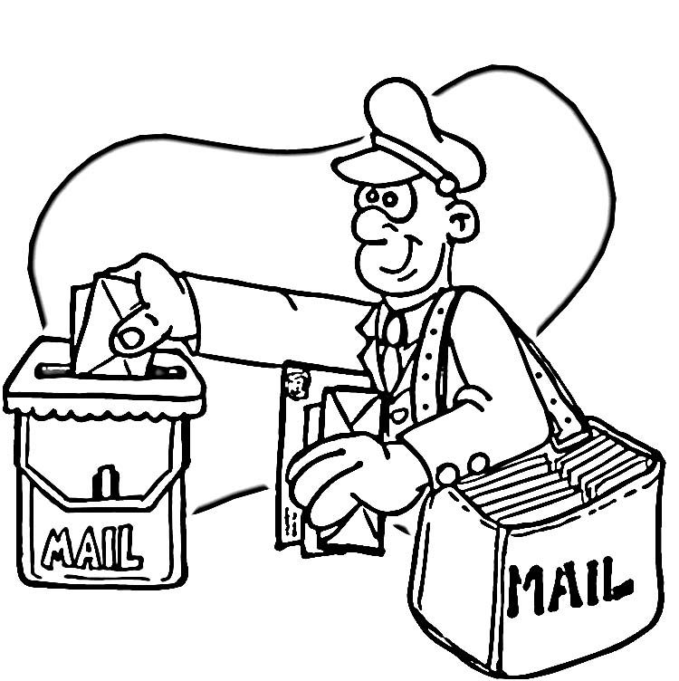 Post Office Coloring Pages For Kids Coloring Pages