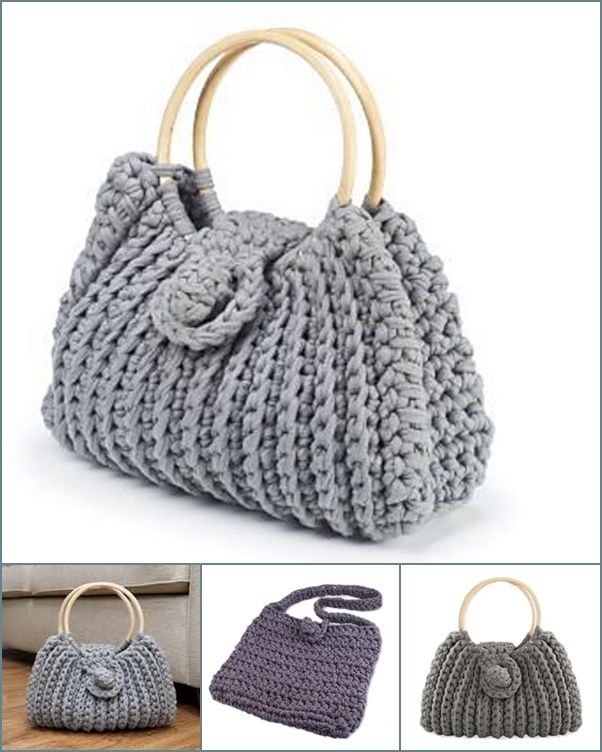 Free Crochet Patterns For Tote Bags And Purses : Wonderful DIY Crochet Harriet Bag with Free Pattern Diy ...