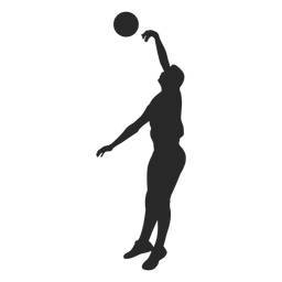 Volleyball Blocking Silhouette Silhouette Silhouette Template Silhouette Png