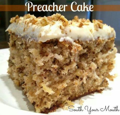 Preacher Cake...Swedish Nut Cake...Hawaiian Wedding Cake...whatever you call it it sounds really good.