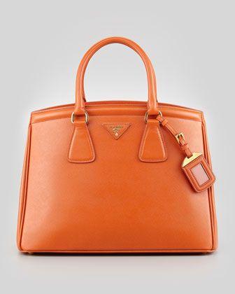 0a281d73c7e3 Saffiano Parabole Medium Tote Bag, Orange by Prada at Neiman Marcus ...