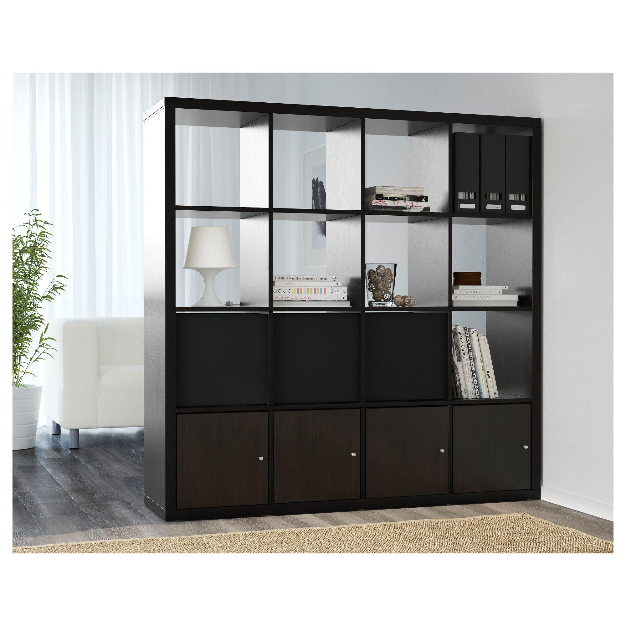 Kallax Shelf Unit Black Brown Kallax Shelf Unit Kallax Shelf  # Kallax Separateur Piece