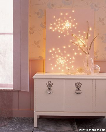 Light Bright Twinkle Canvas -  This is a fireworks-inspired twinkler that serves as mood lighting in practically any room you wish.