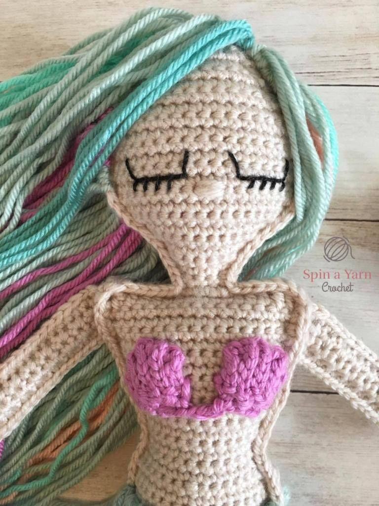 Ragdoll Mermaid Free Crochet Pattern Zukünftige Projekte Häkeln
