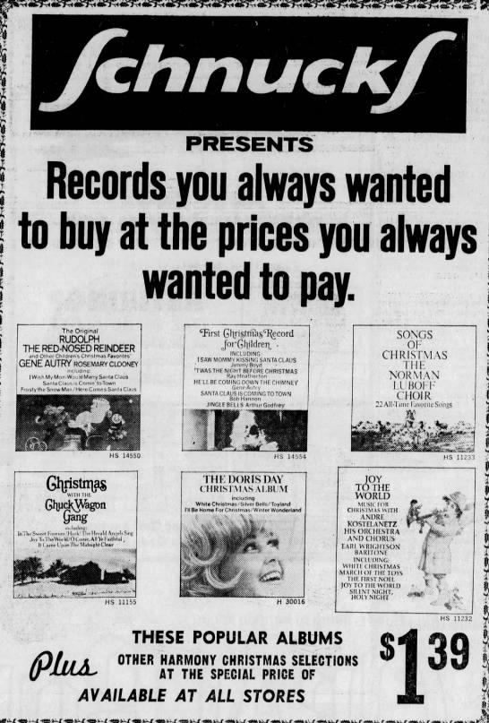 Christmas Albums Coming Out In 2020 Christmas Albums at Schnuck's, 1971 in 2020 | Christmas albums