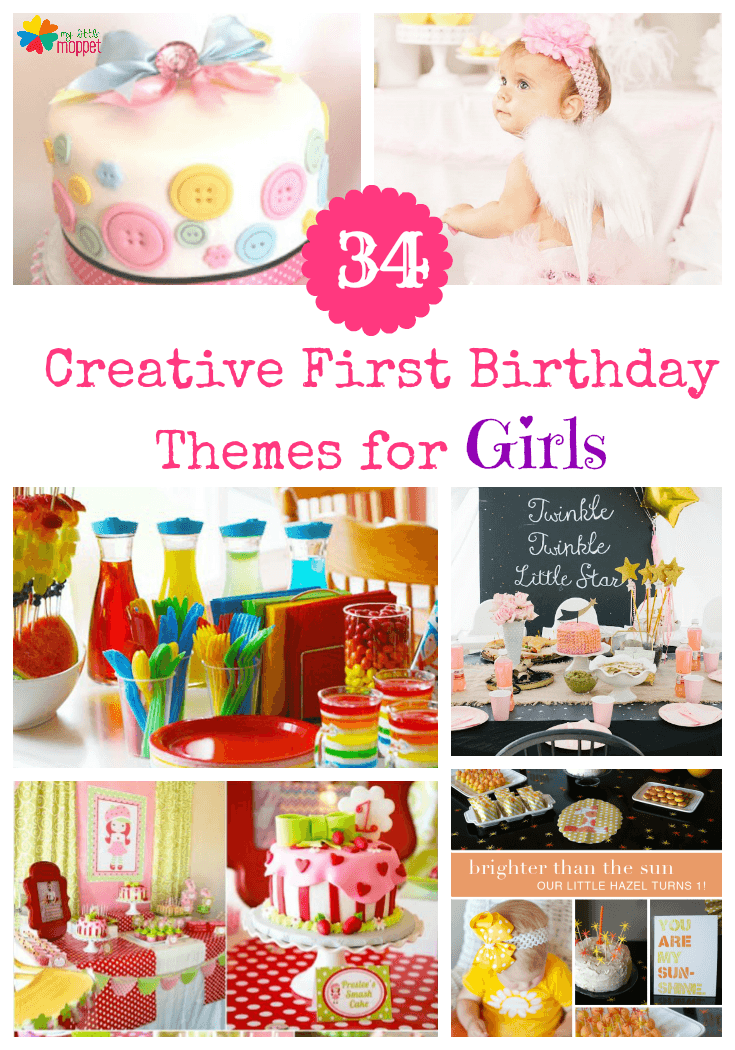 34 Creative Girl First Birthday Party Themes And Ideas Party Ideas