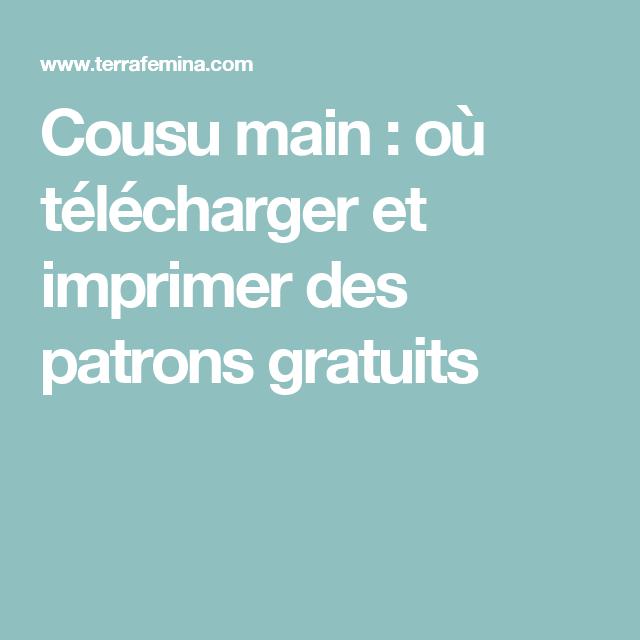 c6072a4be0 Cousu main : où télécharger et imprimer des patrons gratuits Couture À  Faire Soi Même,