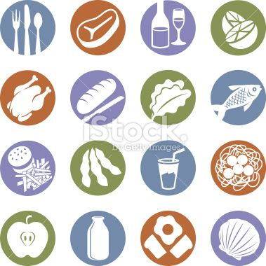 Food Service Icons Royalty Free Stock Vector Art Illustration