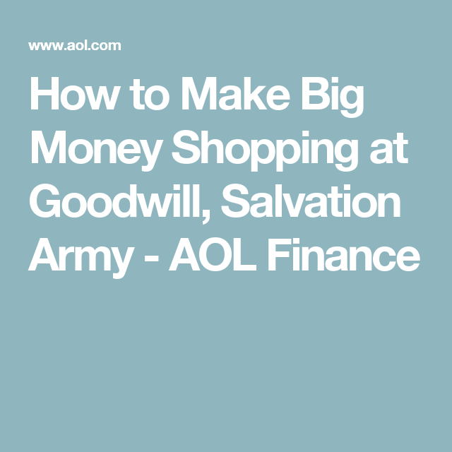 Goodwill Salvation Army Big Money, Salvation Army Or Goodwill