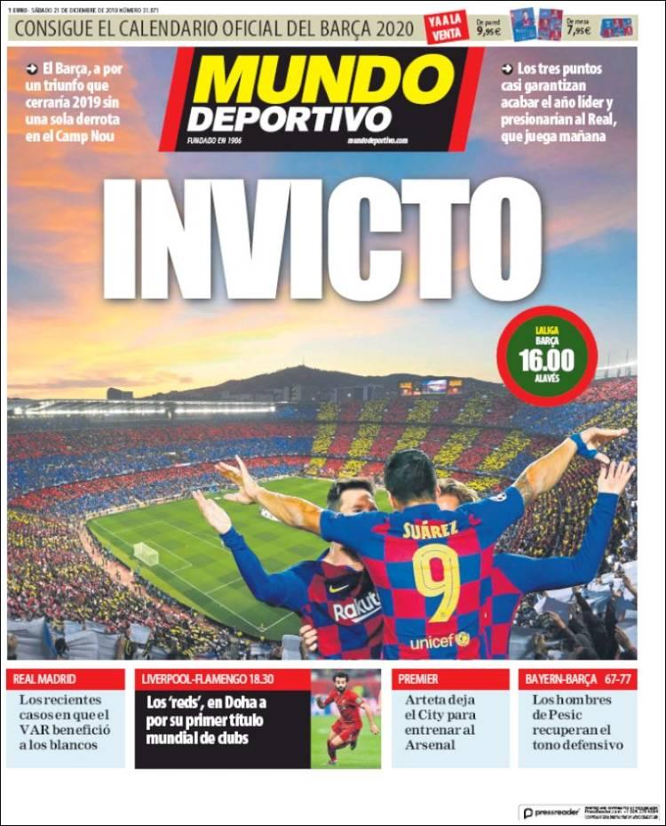 20191221 Periódico El Mundo Deportivo (España