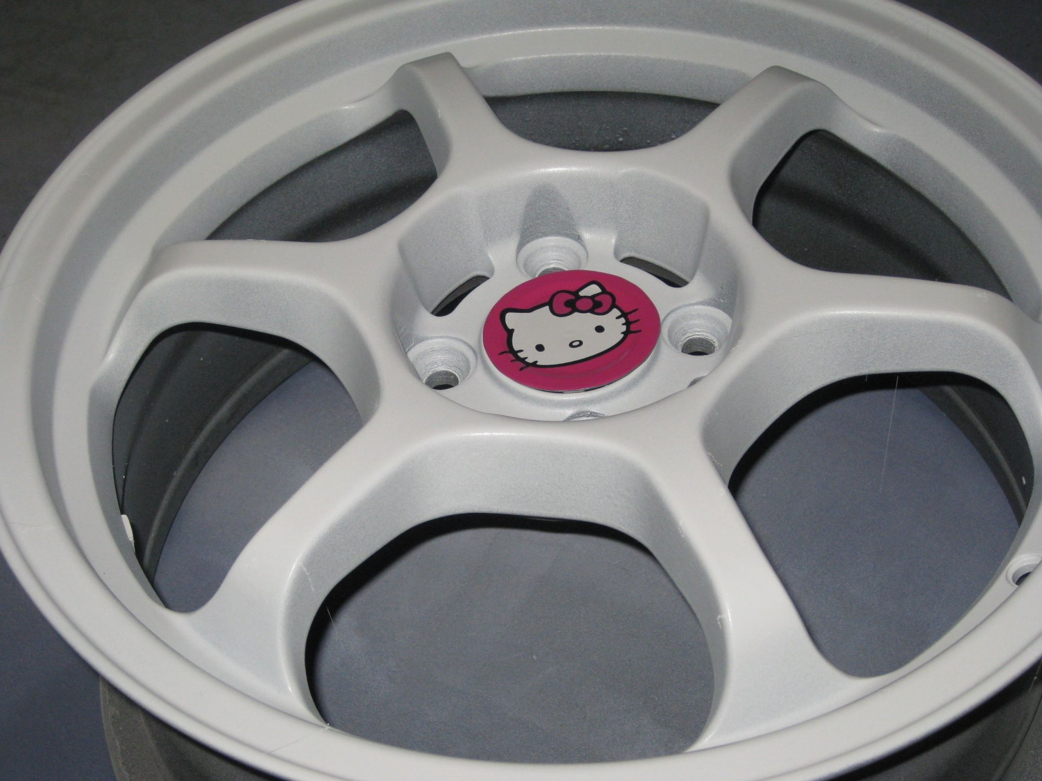 If they have butterfly rims I would so get them. Hello Kitty Car ...
