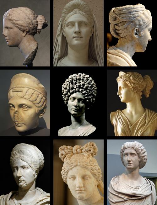 a few of the hairstyles roman women would wear sometimes