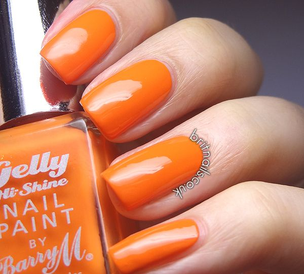 Barry M Gelly Mango | nails | Pinterest | Swatch and Make up