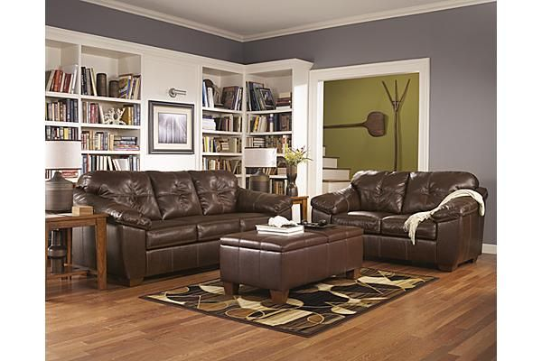 The San Lucas Sofa From Ashley Furniture Home Afhs With Rich Faux Leather Upholstery And A Plush Comfortable Design Harness