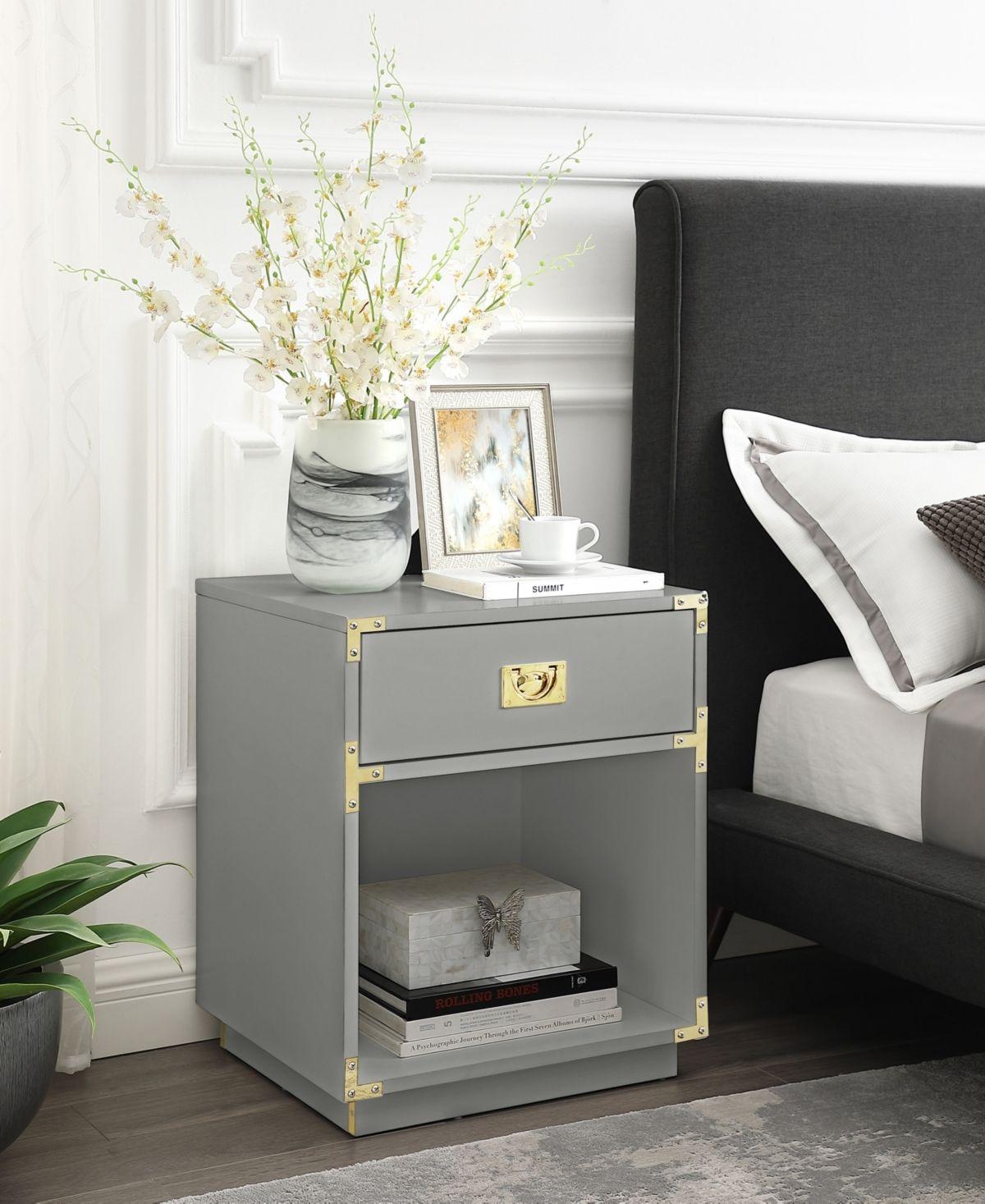 Inspired Home Calixta Single Drawer With Shelf High Gloss