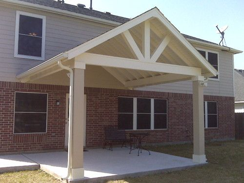 Superb covered patio plans 9 gable roof patio cover for Porch roof plans
