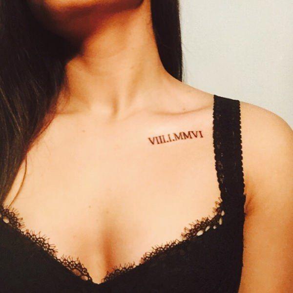 70 Roman Numeral Tattoos Ink Lovers Will Drool Over Collar Bone Tattoo Collar Bone Tattoo Quotes Bone Tattoos
