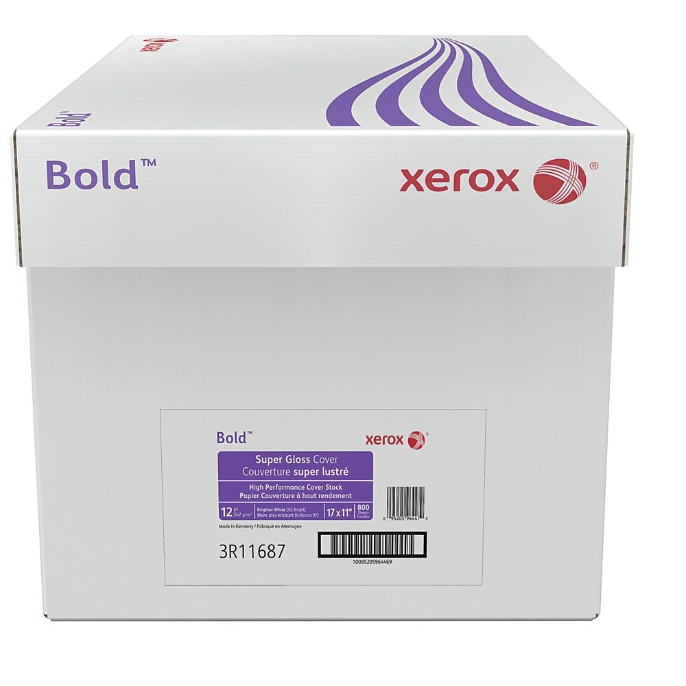 Xerox Bold Digital Super Gloss Cover Ledger Size 11 X 17 92 U S Brightness 12 Pt 247 Gsm Fsc Certified 200 Sheets Per Ream C Cover Digital Paper