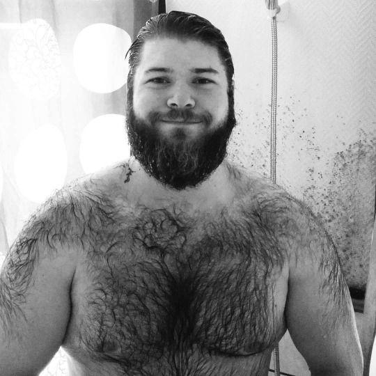 Gay long haired men shower