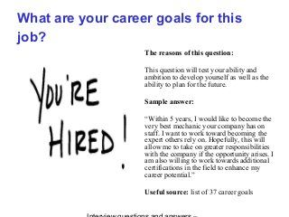 career goals sample answers - Parfu kaptanband co