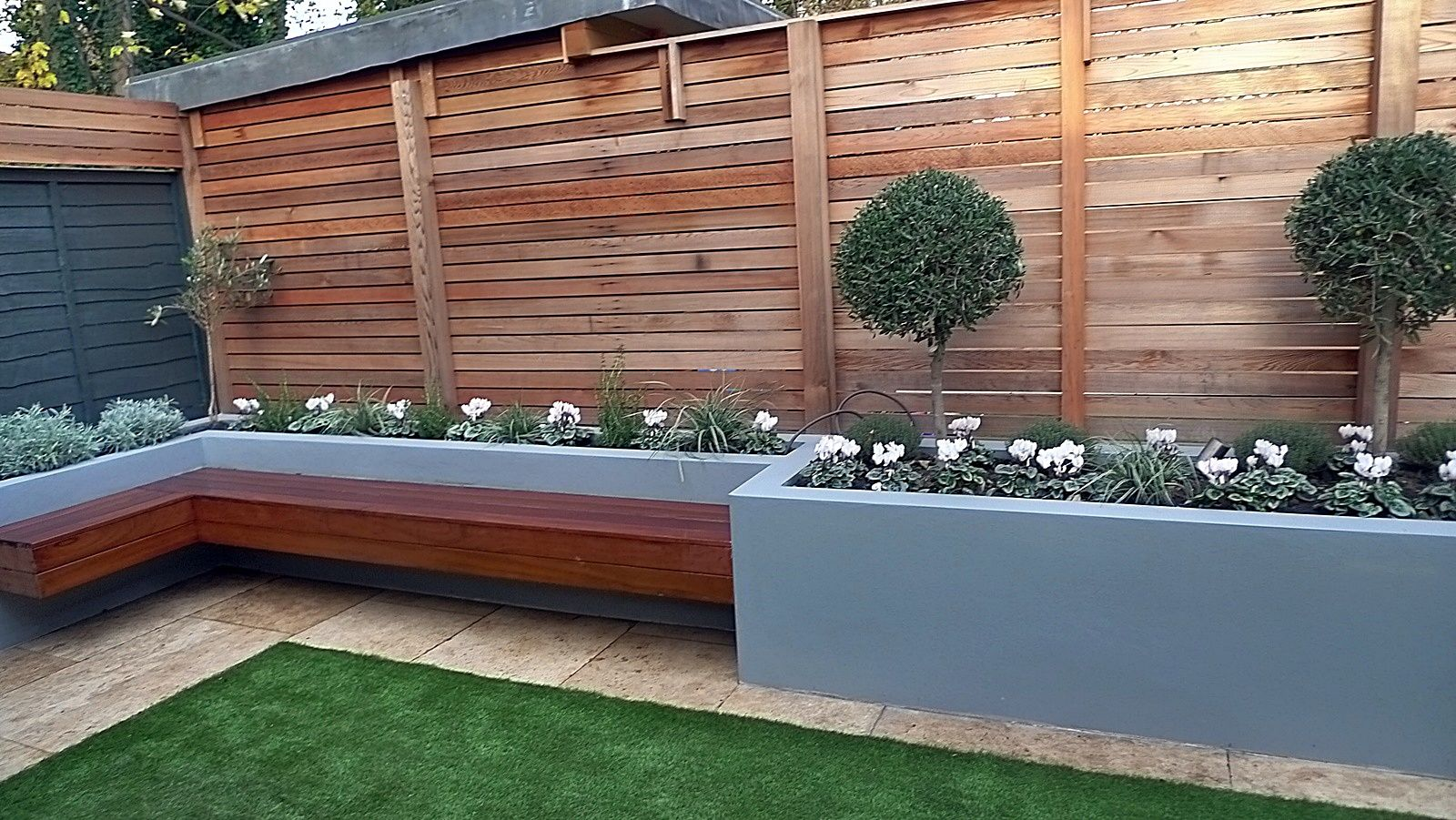 Raised Flower Bed With Grass Google Search Courtyard