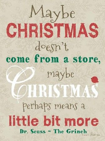 Maybe Christmas doesn't come from a store by Summer Snow