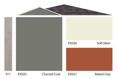 911 ex025 charred coal ex026 soft silver ex027 baked clay colours pinterest exterior paint and best interior paint