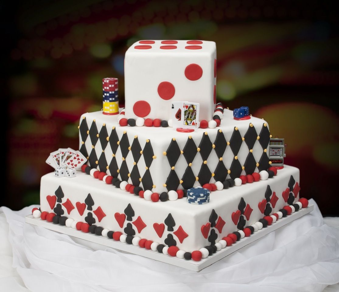 Bridal cakes by ann vegas themed wedding cake poker