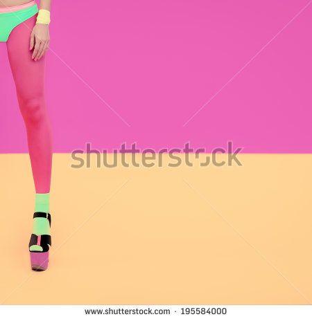 Glamorous summer lady look - stock photo