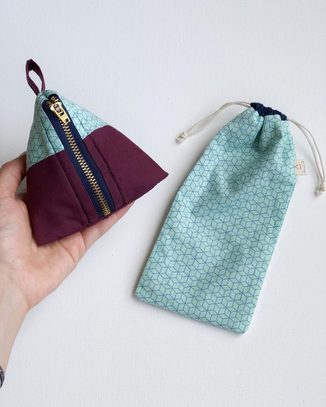 Mothers Day Gift Drawstring Pouch Handmade Drawstring Bag Handmade Gift for Her Bags For Her Reusable Gift Bags Cute Bag With Hearts