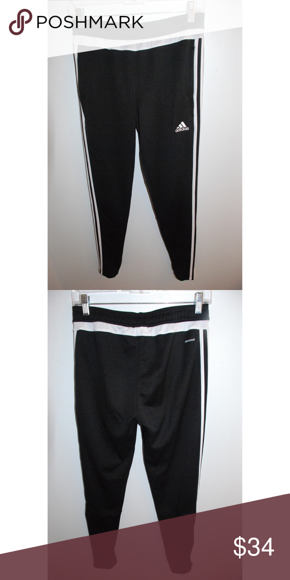 adidas black 'climacool' jogging bottoms
