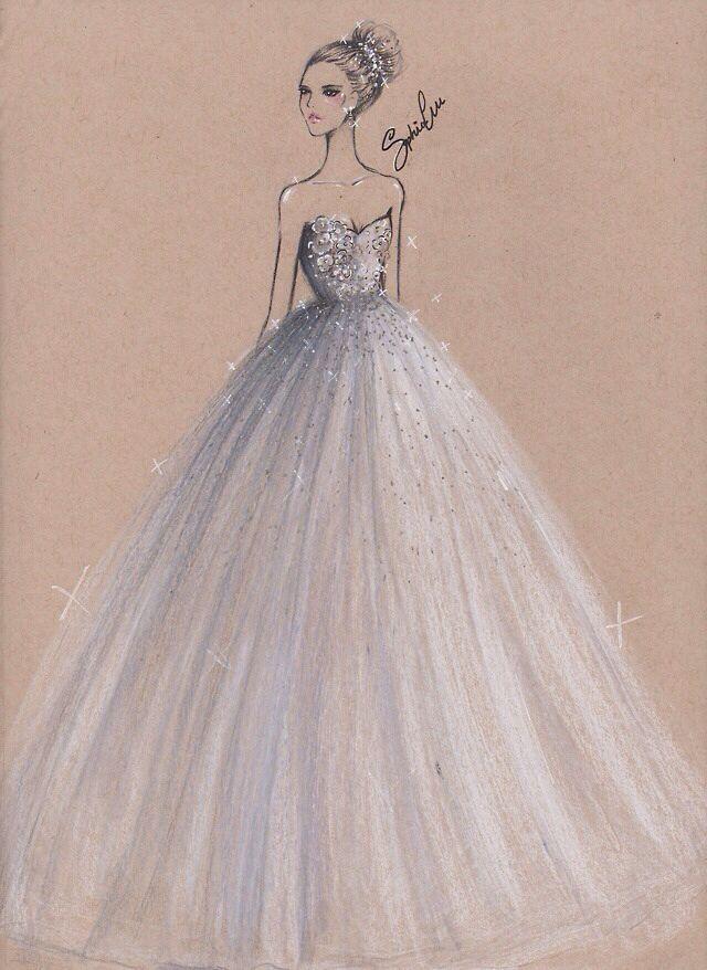 dress sketch i found on tumblr | art & fashion ilustrations