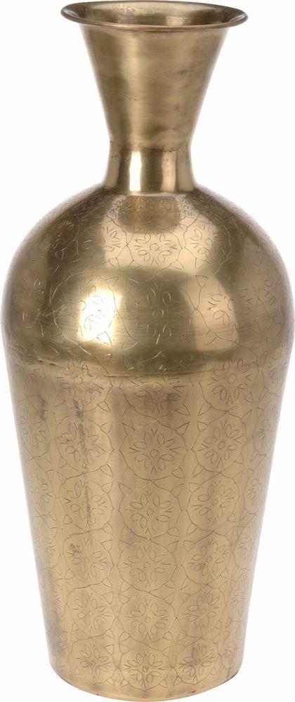 Large Gold Vase Metal Vase Urn Style Vase 54cm Tall Flower Standing