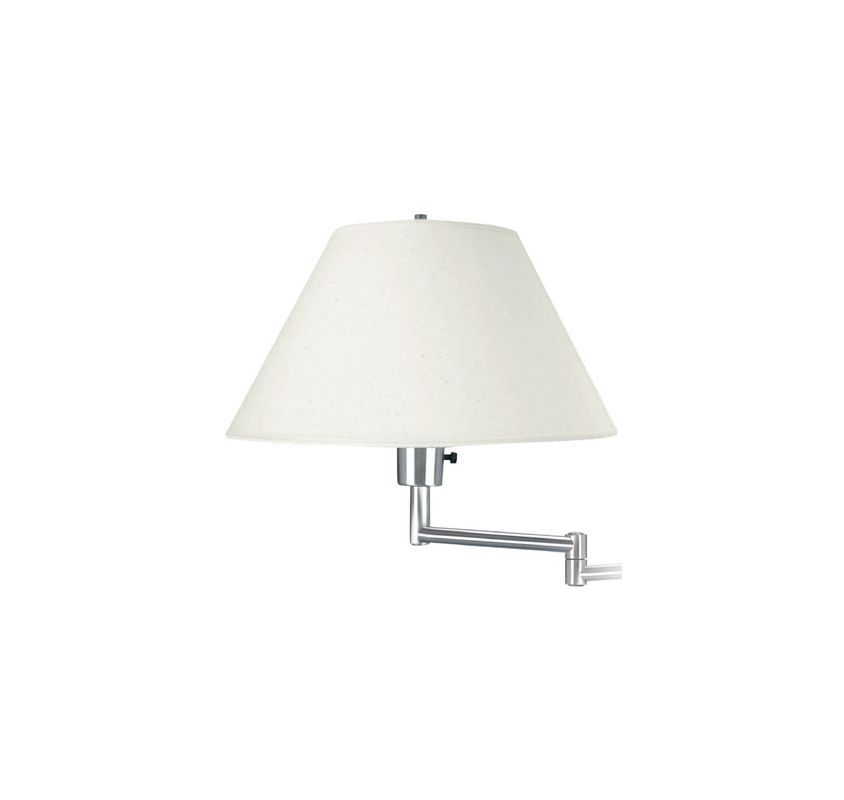 Lite Source LS-1171 Single Light Up Lighting Swing Arm Wall Sconce from the Swin Polished Steel Indoor Lighting Wall Sconces Swing Arm