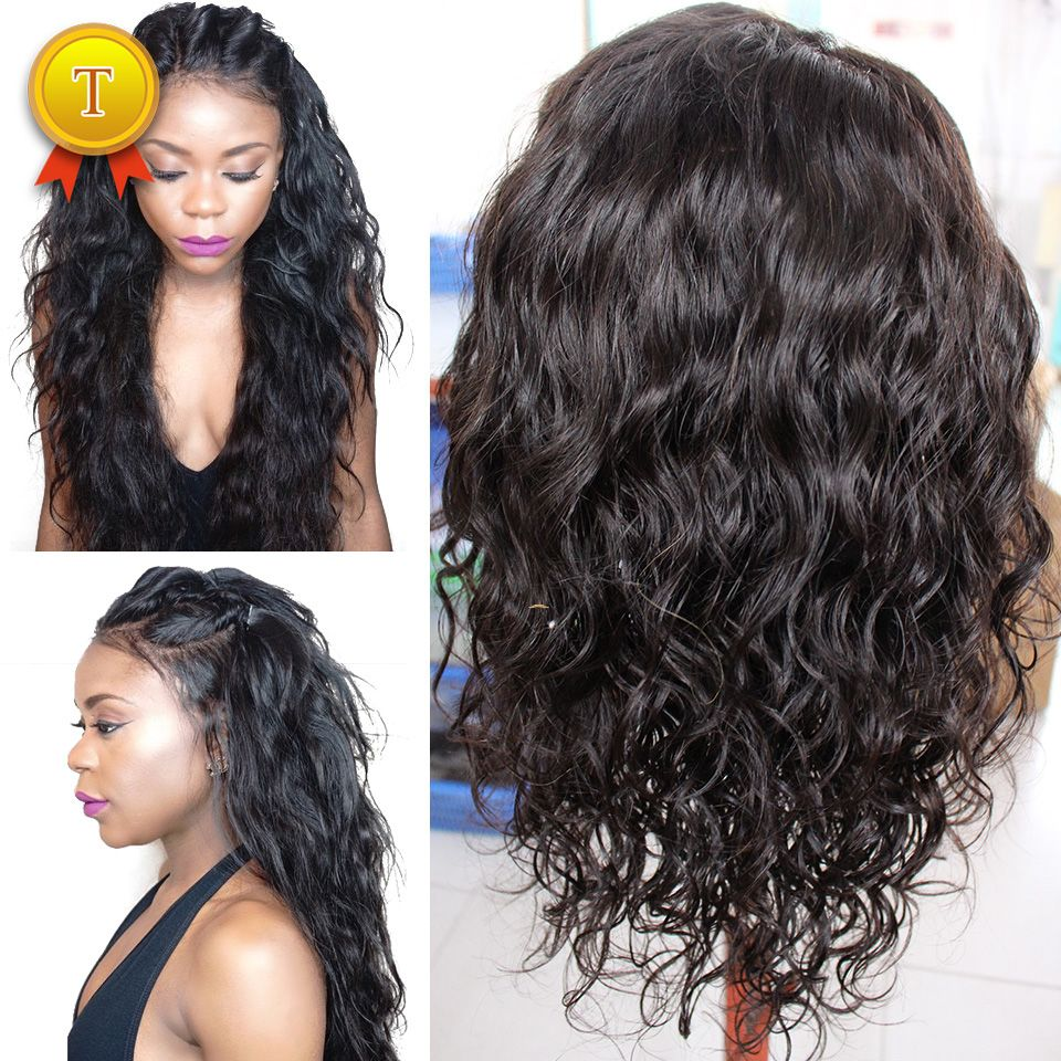 Glueless Full Lace Wig Brazilian Water Wave Full Lace Human Hair Wigs For  Black Women Best Lace Front Wig With Baby Hair 432b0ee561